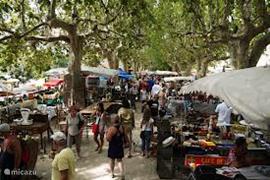 De markt in Barjac.