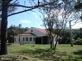 Forest House heeft uitzicht op zee en staat in 1 ha bos.