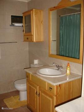 Badkamer nummer 2, met douche.