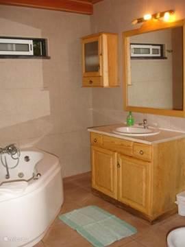 En suite badkamer bij de master-slaapkamer.