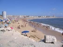 Het strand in Figueira da Foz