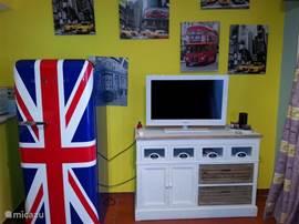 Mooie gedecoreerd woonkamer met airconditioning