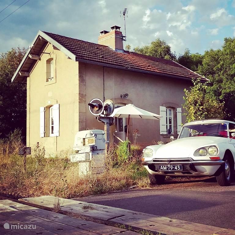 Spoorweghuisje in de Bourgogne