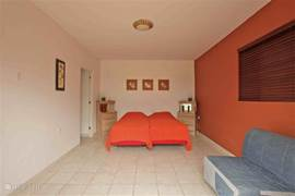 Studio 3 is located below the villa. Obviously, this studio is air-conditioned and also patio doors to the terrace.
