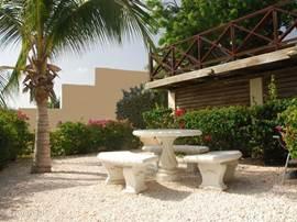 Curavilla Garden with bbq spot.