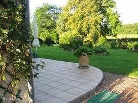 Terrace with a piece of garden