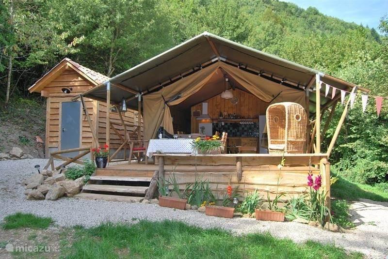 Vakantiehuis Frankrijk, Languedoc-Roussillon, Avène Blokhut / Lodge Safaritent in Zuid Frankrijk