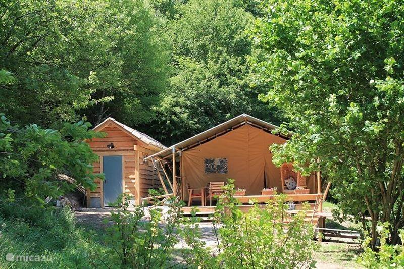 Vacation rental France Languedoc-Roussillon Avène Cabin / Lodge Safari tent surrounded by nature ... & Safari tent surrounded by nature in Avène Languedoc-Roussillon ...