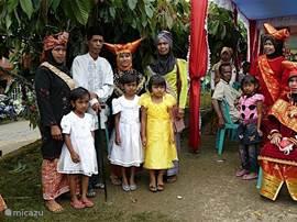 Minangkabau family in costumes