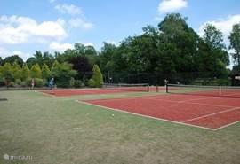 Voor de actieve mens is er een mogelijkheid om te tennissen.