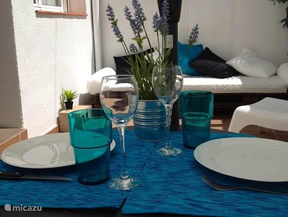 Vakantiehuis Spanje, Costa Brava, Pineda de Mar Studio Cal Pintor Blauw