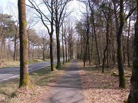 En ook mooie fietspaden dwars door de landerijen en bossen.
