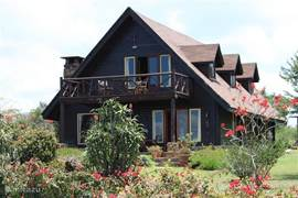 Front view of hood house with balconies overlooking the lake of n Naivasha