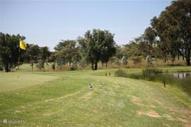 Golfbaan met waterpartij