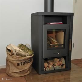 The Woodstove brings the warmth and coziness in the room