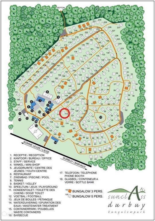Parkplan - bungalow centraal gelegen