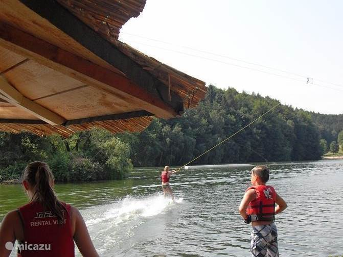 Learn to water ski or wave riding on the lake!