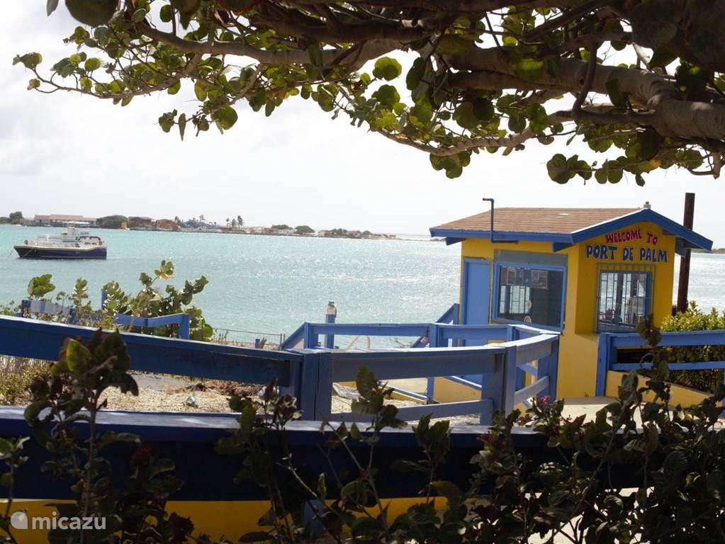 Op 400 m van de appartementen is de pier vanwaar u met een pontje naar het all-inclusief Palm-island kunt gaan. Van s'morgens vroeg tot eind van de dag kunt u daar eten en drinken wat u wilt, gebruik maken van de waterglijbanen, scuba-diving en nog veel meer.