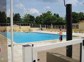 The large heated pool at the park.