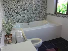 Badkamer bij slaapkamer 2, met bubbelbad