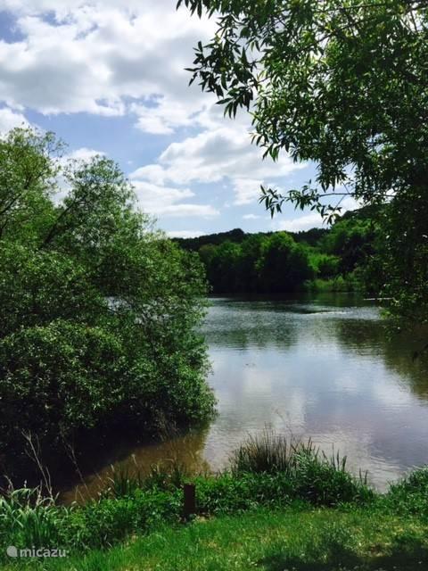 uitzicht over het meer bij seepark