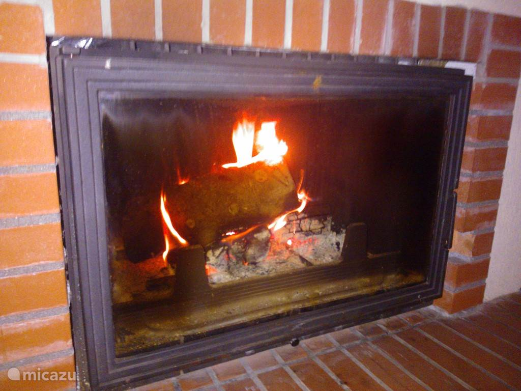 Warm at the hearth fire