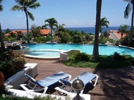 Op loopafstand vindt u het zwembad. Dit zwembad is voorzien van ruim voldoende ligbedjes en biedt een schitterend zicht over de Caribische zee.