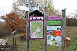 Een van de punten waar u uw wandeling kan starten in totaal ligt om Liesenich 50 km wandelroute