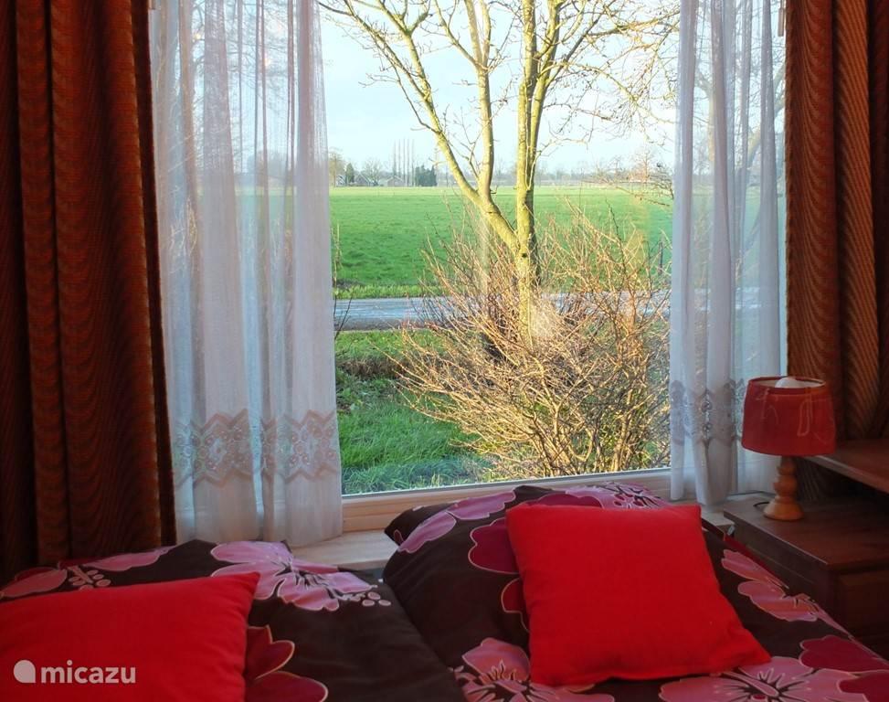slaapkamer uitzicht op het mooie landschap