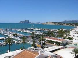 Het haventje van Moraira.