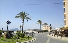 De boulevard van Moraira.
