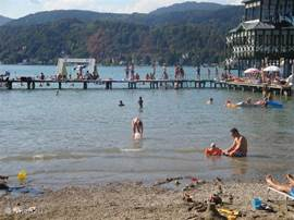 Just swimming in the Worthersee, one of the nearby lakes.