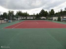 tennisbaan op het park