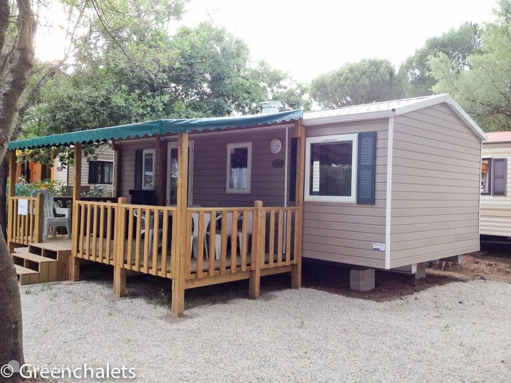 Mobile home, Trigano, veranda, cote d'azur, glamping.