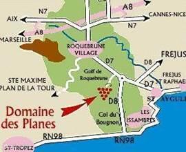 De regio waar de VILLA & STUDIO zijn gelegen, vlak bij de Middellandse zee, tussen Cannes en St. Tropez