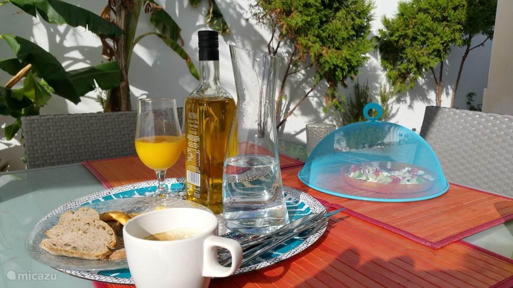 De patio: Een heerlijke plek voor ontbijt