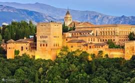 Dagtrip Granada / Alhambra (Alhambra tickets online ruim van te voren reserveren. Zeer beperkte beschikbaarheid)