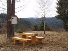 Het landschap van het Frankenwald