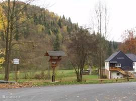 De toegangsweg naar het Höllental