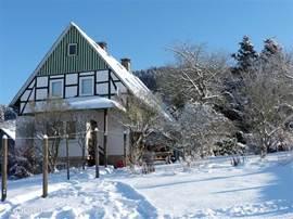 Betten Haus in winter