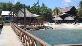 Alle huurders van Villa Chili Pepper, hebben vrij toegang tot het bekende strand van Pirate Bay. na een wandeling van 5 minuten kunt u zonnen op dit heerlijke strand. Het Happy hour aan de gezellige bar is over het hele eiland bekend. Verder is er een padi duikschool en 2 goede restaurants.