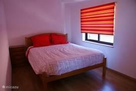 Ruime tweede slaapkamer met 2-persoonsbed. Uitstekende matras en een goede dekbed.