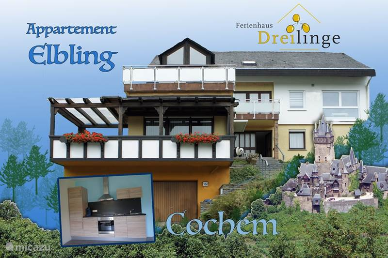 appartement ferienhaus dreilinge app 39 elbling 39 in cochem mosel deutschland mieten micazu. Black Bedroom Furniture Sets. Home Design Ideas