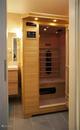 The private IR sauna in the bathroom can be used for free.