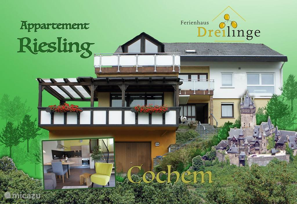 Vacation rental Germany, Moselle, Cochem - apartment Ferienhaus Dreilinge, app 'Riesling'