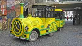 The tourist train takes passengers through the highlights of Cochem.