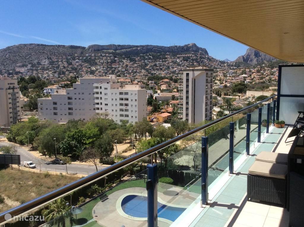 Balkon met mooi uitzicht.
