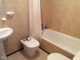 Badkamer 2 met ligbad, toilet en wastafel