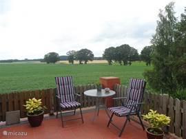 Heerlijk relaxed genieten op het terras.