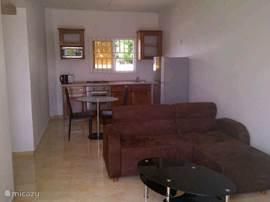 Offene Küche und Wohnzimmer